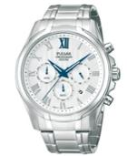 Pulsar Men's Chronograph Stainless Steel Bracelet Watch 43mm Pt3399