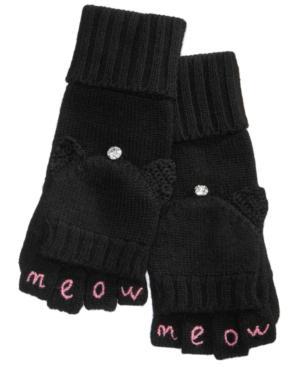 Kate Spade New York Meow Pop-top Mittens