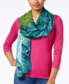 Inc International Concepts Peacock Pashmina Wrap, Created For Macy's