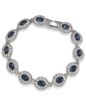 Carolee Bracelet, Silver-tone Oval Stone Flex Bracelet