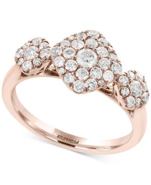 Pave Rose By Effy Diamond Tri-cluster Ring (3/4 Ct. T.w.) In 14k Rose Gold