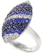Balissima By Effy Sapphire Marquise Ring In Sterling Silver (3 Ct. T.w.)