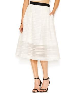 Rachel Rachel Roy Textured A-line Midi Skirt