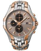 Seiko Men's Chronograph Solar Two-tone Stainless Steel Bracelet Watch 43mm Ssc250