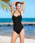 La Blanca Ruched Twist-front One-piece Swimsuit Women's Swimsuit