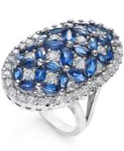 Sapphire (4 Ct. T.w.) And Diamond (1-3/4 Ct. T.w.) Ring In 14k White Gold