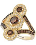 Le Vian Chocolatier Chocolate And White Diamond Deco Ring (1 Ct. T.w.) In 14k Gold