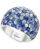 Splash By Effy Multicolor Sapphire Statement Ring (5-3/4 Ct. T.w.) In Sterling Silver