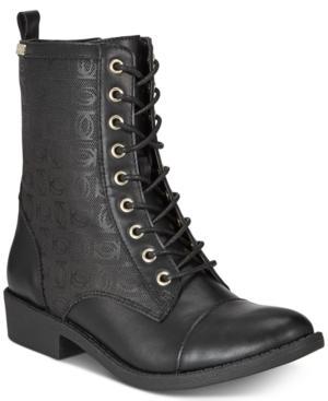 Bebe Olsen Lace Up Combat Booties Women's Shoes