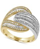 Duo By Effy Diamond Open Wrap Ring (1 Ct. T.w.) In 14k Yellow And White Gold