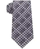 Sean John Men's Houndstooth Shadow Check Silk Tie