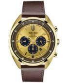 Seiko Men's Chronograph Solar Recraft Series Brown Leather Strap Watch 43mm Ssc570