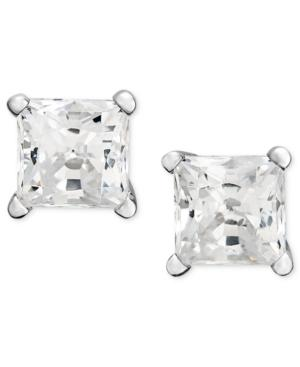 Diamond Earrings, 14k White Gold Princess Cut Diamond Studs (1-1/4 Ct. T.w.)