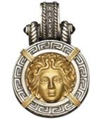 14k Gold And Sterling Silver Pendant, Medusa Enhancer
