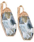 Swarovski Rose Gold-tone Large Crystal Drop Earrings