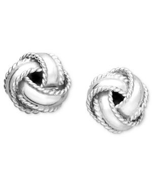 Giani Bernini Sterling Silver Earrings, Small Love Knot Stud Earrings