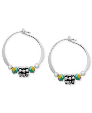 Jody Coyote Sterling Silver Earrings, Daisy Hoop Earrings