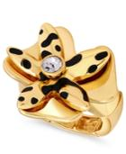 Guess Gold-tone Crystal Flower Statement Ring
