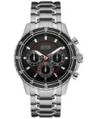 Guess Men's Chronograph Stainless Steel Bracelet Watch 48mm U0676g1