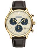 Movado Men's Swiss Chronograph Heritage Series Calendoplan Black Leather Strap Watch 43mm 3650007