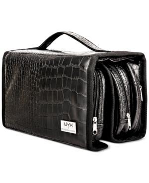 Nyx Professional Makeup Black Croc-embossed Deluxe Makeup Bag