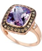 Le Vian Amethyst (4-1/2 Ct. T.w.) And Diamond (1/3 Ct. T.w.) Ring In 14k Rose Gold