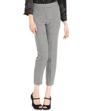 Nine West Pants, Skinny Houndstooth-check