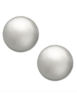 Children's 14k White Gold Earrings, Ball Stud (4mm)