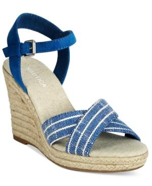 Nautica Longshore Platform Wedge Sandals Women's Shoes