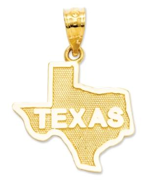 14k Gold Charm, State Of Texas Charm