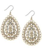 Lucky Brand Two-tone Filigree Teardrop Drop Earrings