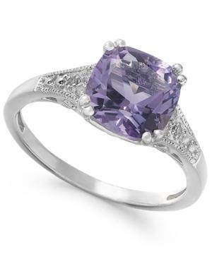 Amethyst (2-7/8 Ct. T.w.) And Diamond Accent Ring In 14k White Gold
