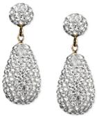 10k Gold Earrings, Crystallized Drop