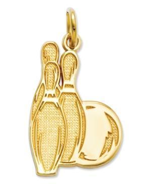 14k Gold Charm, Bowling Charm