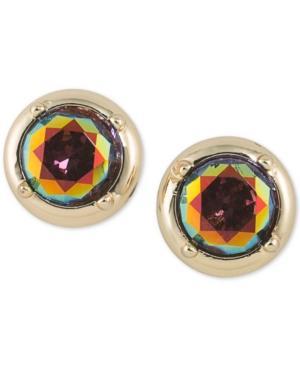 Abs By Allen Schwartz Gold-tone Multicolor Stone Stud Earrings
