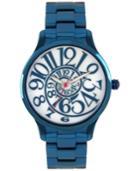 Betsey Johnson Women's Blue Stainless Steel Bracelet Watch 40mm Bj00040-20