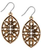Lucky Brand Gold-tone Cutout Teardrop Earrings