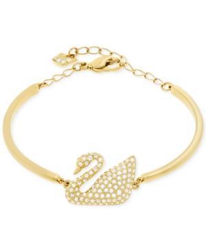 Swarovski Swan Gold-plated Crystal Bracelet