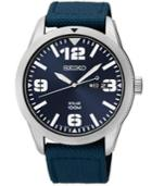 Seiko Men's Solar Blue Nylon Strap Watch 43mm Sne329