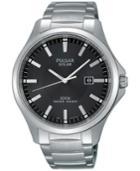 Pulsar Men's Solar Dress Stainless Steel Bracelet Watch 44mm Px3073