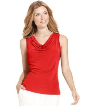 Calvin Klein Sleeveless Cowl-neck Tank Top