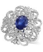 Effy Sapphire (1-9/10 Ct. T.w.) And Diamond (3/5 Ct. T.w.) Ring In 14k White Gold
