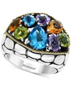 Balissima By Effy Multi-gemstone Ring (6-1/8 Ct. T.w.) In Sterling Silver & 18k Gold