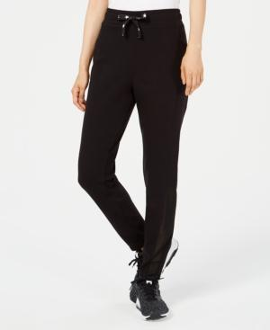 Material Girl Active Juniors' Mesh-panel Drawstring Joggers, Created For Macy's