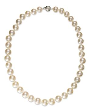 Pearl Necklace, 14k White Gold White Cultured South Sea Pearl Strand Necklace (10-12mm)