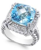 Blue Topaz (7 Ct. T.w.) & Diamond Accent Ring In Sterling Silver