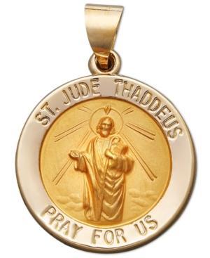 14k Gold Pendant, Saint Jude