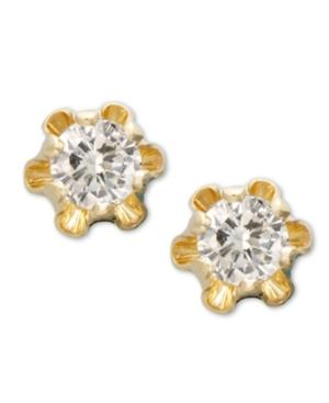 Children's 14k Gold Earrings, Diamond Stud (1/8 Ct. T.w.)