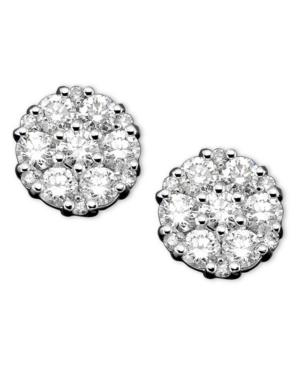 Diamond Earrings, 14k White Gold Diamond (1 Ct. T.w.)