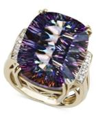 14k Gold Ring, Mystic Topaz (11 Ct. T.w.) And Diamond Accent